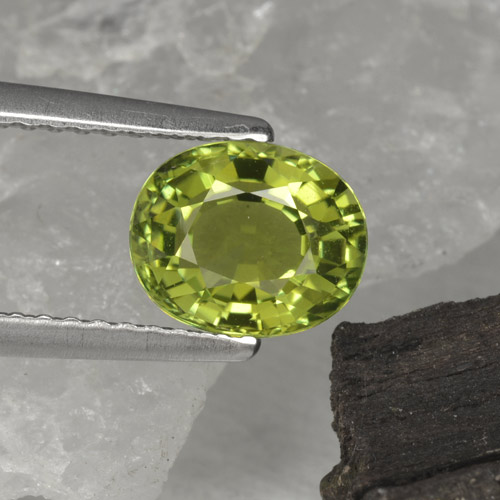 1.3ct Oval Facet Olive Green Tourmaline Gem (ID: 253092)