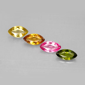 Buy 1.59 ct Multicolor Tourmaline 6.81 mm x 3.9 mm from GemSelect (Product ID: 283143)