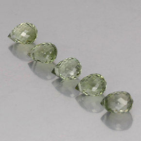 Green Tourmaline Gem - 0.5ct Briolette with Hole (ID: 335580)