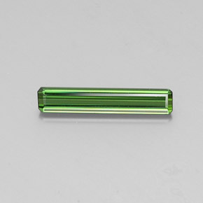 1.6ct Octagon Facet Medium Green Tourmaline Gem (ID: 346886)
