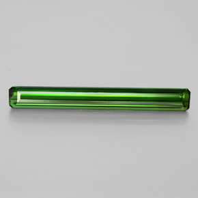 3.53 ct Octagon Facet Green Tourmaline Gemstone 28.79 mm x 3.6 mm (Product ID: 347648)