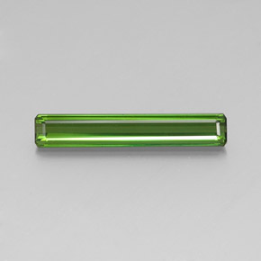 3.42 ct Octagon Facet Green Tourmaline Gemstone 24.18 mm x 4.1 mm (Product ID: 347673)