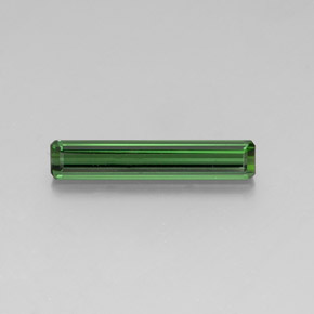 3.3ct Octagon Facet Medium Green Tourmaline Gem (ID: 347675)