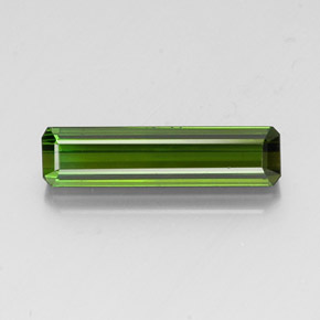 3.5ct Octagon Facet Earthy Green Tourmaline Gem (ID: 347679)