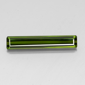 3.3ct Octagon Facet Dark Green Tourmaline Gem (ID: 347680)