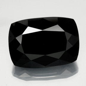 thumb image of 57.5ct Cushion-Cut Black Tourmaline (ID: 347932)
