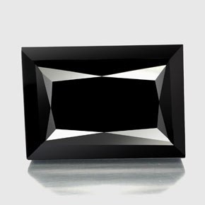 59ct Baguette / Scissor Cut Black Tourmaline Gem (ID: 348200)