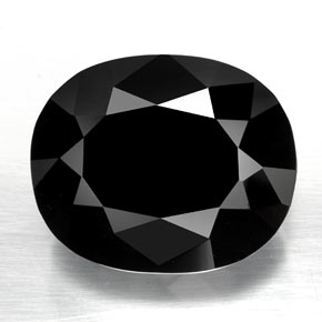 Black with Gold Sheen Tourmaline Gem - 81.4ct Oval Facet (ID: 348201)
