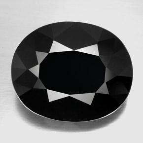 Black Tourmaline Gem - 29.2ct Oval Facet (ID: 348311)