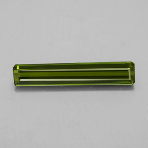 2.1ct Octagon Facet Seaweed Green Tourmaline Gem (ID: 348531)