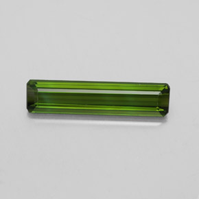 2.1ct Octagon Facet Dark Green Tourmaline Gem (ID: 348539)