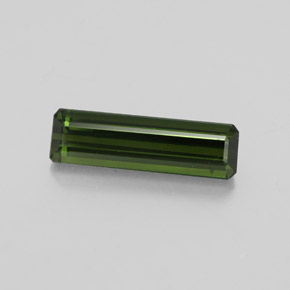 2ct Octagon Facet Earthy Green Tourmaline Gem (ID: 348540)