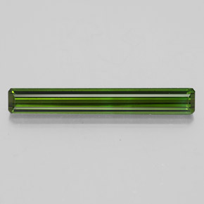 2.5ct Octagon Facet Earthy Green Tourmaline Gem (ID: 348543)