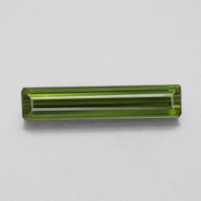 2.6ct Octagon Facet Seaweed Green Tourmaline Gem (ID: 348551)