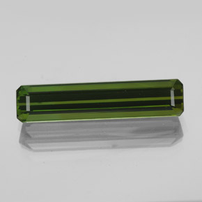2.7ct Octagon Facet Earthy Green Tourmaline Gem (ID: 348565)
