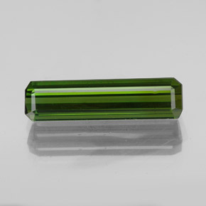 2.2ct Octagon Facet Earthy Green Tourmaline Gem (ID: 348566)