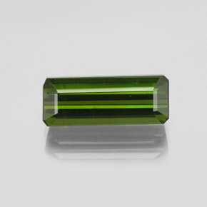 2.2ct Octagon Facet Earthy Green Tourmaline Gem (ID: 348605)