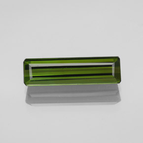 2.2ct Octagon Facet Seaweed Green Tourmaline Gem (ID: 348610)