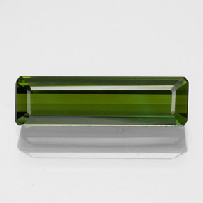 2.2ct Octagon Facet Seaweed Green Tourmaline Gem (ID: 348676)