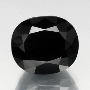 thumb image of 33.5ct Oval Facet Black Tourmaline (ID: 348739)