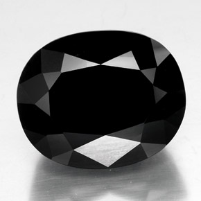 Black with Gold Sheen トルマリン 宝石 - 59.9ct オーバル ファセット (ID: 348830)