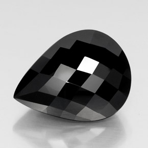 thumb image of 27.8ct Pear Checkerboard Black Tourmaline (ID: 348838)