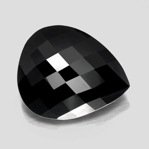 thumb image of 24.2ct Pear Checkerboard Black Tourmaline (ID: 348840)