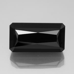 40.08 ct Octagon / Scissor Cut Black Tourmaline Gemstone 25.92 mm x 13.8 mm (Product ID: 348856)
