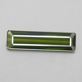 2.2ct Octagon Facet Forest Green Tourmaline Gem (ID: 348977)