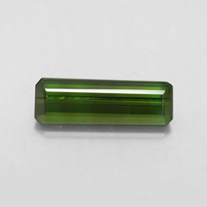 2.3ct Octagon Facet Deep Green Tourmaline Gem (ID: 349002)
