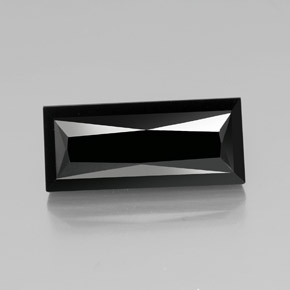 thumb image of 19.2ct Baguette / Scissor Cut Black Tourmaline (ID: 349362)