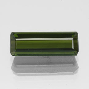 1.9ct Octagon Facet Deep Green Tourmaline Gem (ID: 349544)