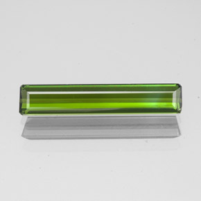 1.5ct Octagon Facet Yellowish Green Tourmaline Gem (ID: 349596)