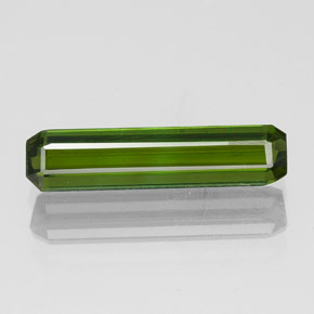 1.5ct Octagon Facet Dark Green Tourmaline Gem (ID: 349649)
