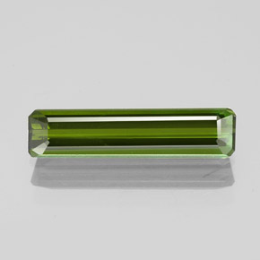 1.3ct Octagon Facet Deep Green Tourmaline Gem (ID: 349651)