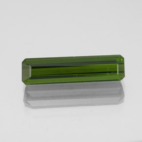 2ct Octagon Facet Seaweed Green Tourmaline Gem (ID: 349697)