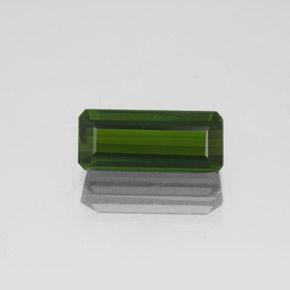 2ct Octagon Facet Dark Green Tourmaline Gem (ID: 350260)
