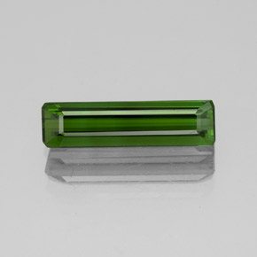 1.5ct Octagon Facet Deep Green Tourmaline Gem (ID: 350262)