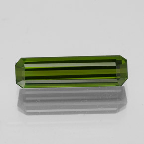 1.3ct Octagon Facet Dark Green Tourmaline Gem (ID: 350271)