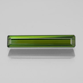 1.5ct Octagon Facet Dark Green Tourmaline Gem (ID: 350278)