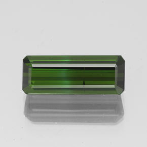 1.8ct Octagon Facet Medium-Dark Green Tourmaline Gem (ID: 350297)