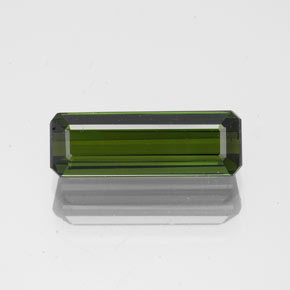 1.9ct Octagon Facet Dark Earthy Green Tourmaline Gem (ID: 350299)