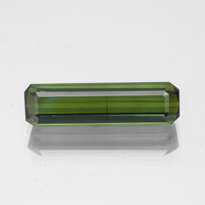 1.7ct Octagon Facet Deep Green Tourmaline Gem (ID: 350300)