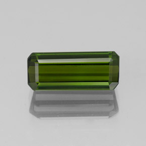 1.3ct Octagon Facet Dark Green Tourmaline Gem (ID: 350305)