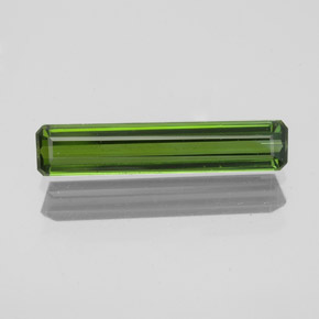 1.1ct Octagon Facet Seaweed Green Tourmaline Gem (ID: 350306)