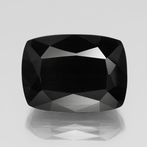 Black with Gold Sheen 碧玺 Gem - 39.8ct 垫型切割 (ID: 350866)