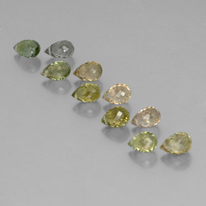 Multicolor Tourmaline Gem - 0.6ct Briolette with Hole (ID: 352896)