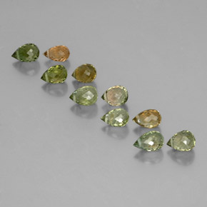 Multicolor Tourmaline Gem - 0.4ct Briolette with Hole (ID: 353349)