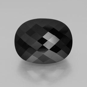 52.56 ct Oval Checkerboard Black Tourmaline Gemstone 24.22 mm x 19.1 mm (Product ID: 362480)