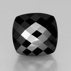 thumb image of 28.6ct Cushion Checkerboard Black Tourmaline (ID: 363613)